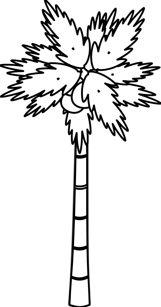 Black and white tree clipart free png black and white library Arecaceae Black and white Tree Clip art - Banana Coconut Cliparts ... png black and white library