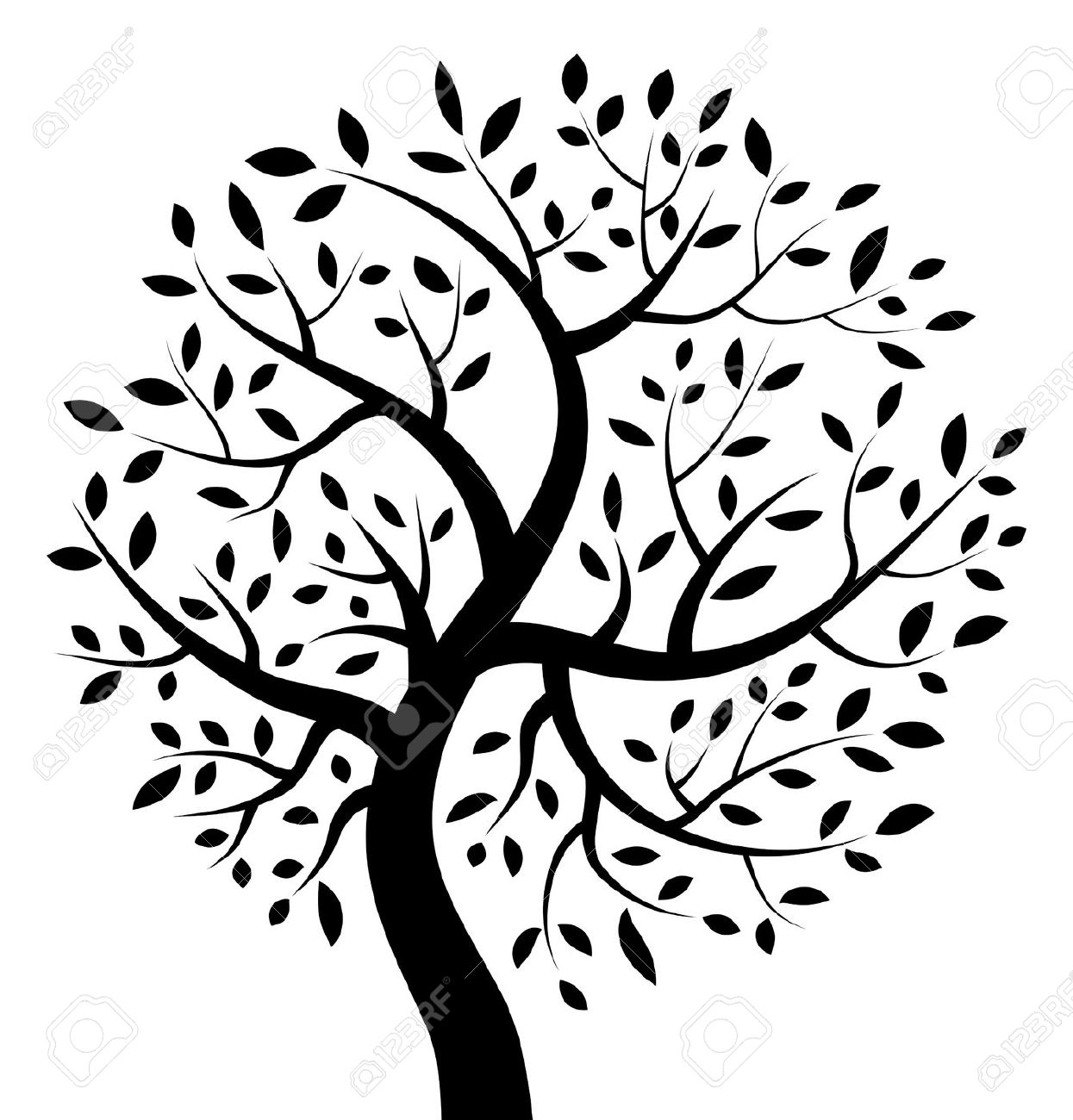 Free clipart images black and white tree clip art library library Family Tree Clipart Black And White | Free download best Family Tree ... clip art library library