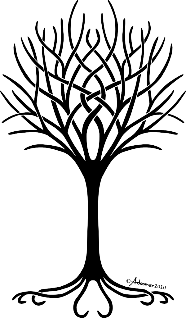 Fruit tree with roots clipart clip art royalty free Black And White Tree Of Life PNG Transparent Black And White Tree Of ... clip art royalty free