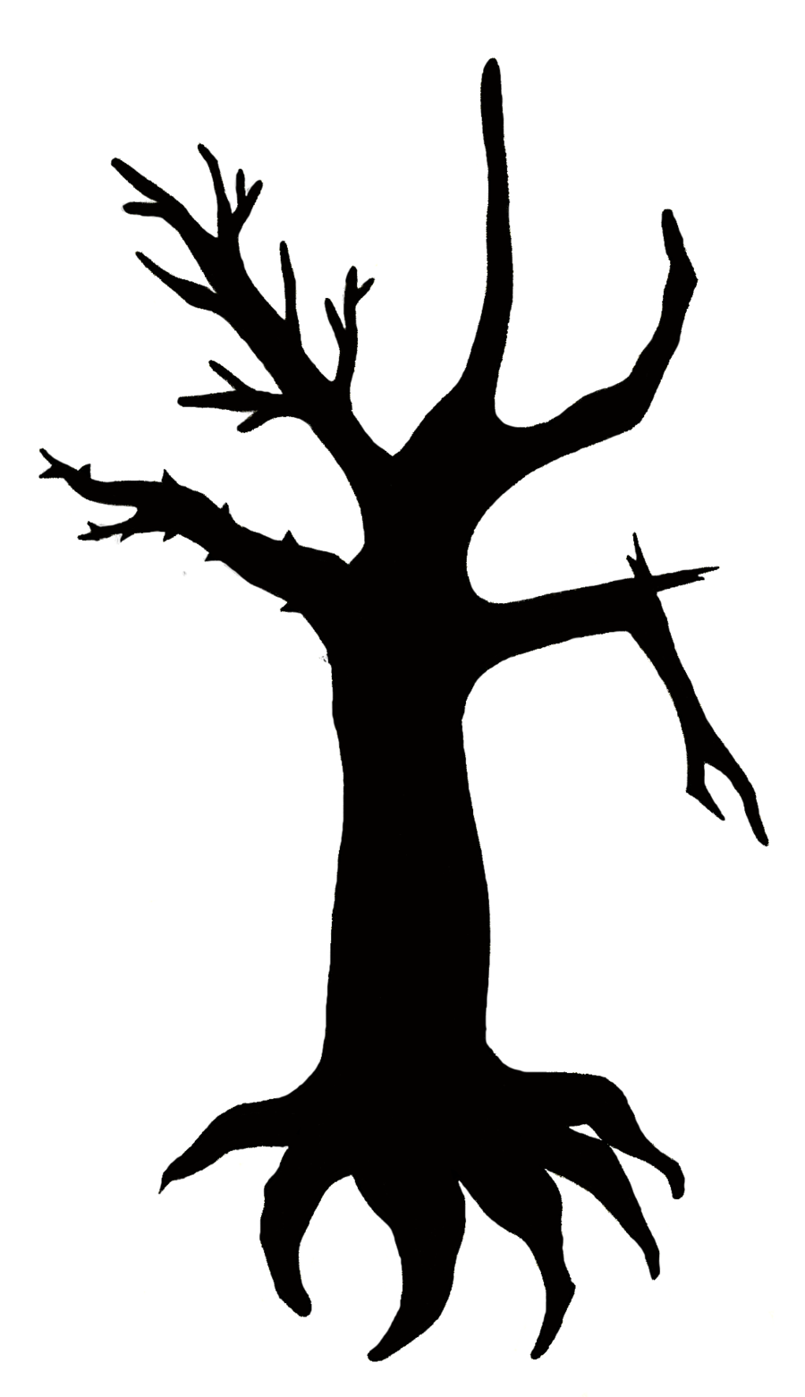 Black and white tree with roots clipart graphic royalty free stock Tree And Roots Silhouette at GetDrawings.com | Free for personal use ... graphic royalty free stock