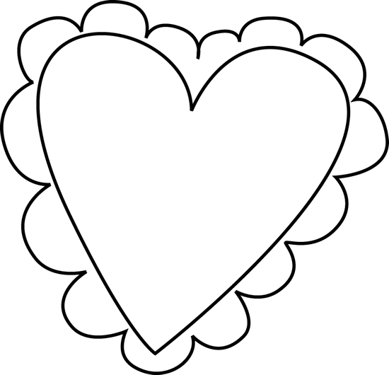 Valentine hearts clipart black and white image free Free Black And White Valentines, Download Free Clip Art, Free Clip ... image free