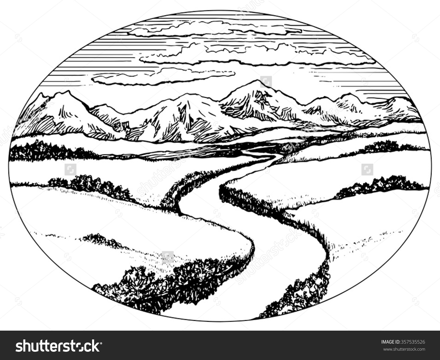 Black and white valley clipart svg library Valley clipart black and white 7 » Clipart Station svg library