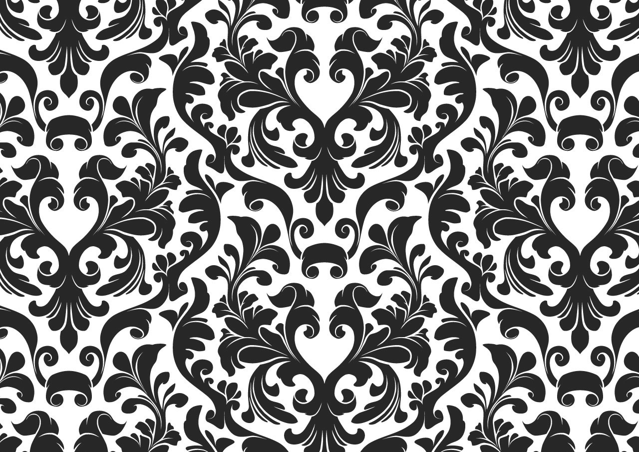 Black and white wallpaper clipart svg freeuse library Damask Black And White Wallpaper   Free Images at Clker.com - vector ... svg freeuse library