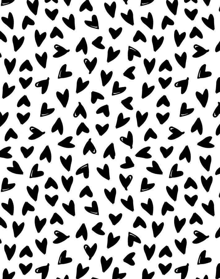 Black and white wallpaper clipart picture freeuse download Hearts Wallpaper - Black on White picture freeuse download