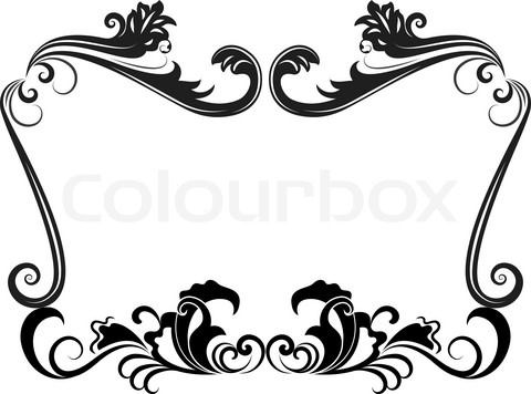 Black and white wedding border clipart vector royalty free library Wedding Border Designs | Free download best Wedding Border Designs ... vector royalty free library