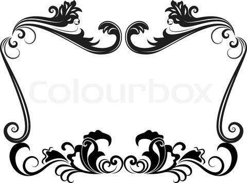 Wedding border clipart vector