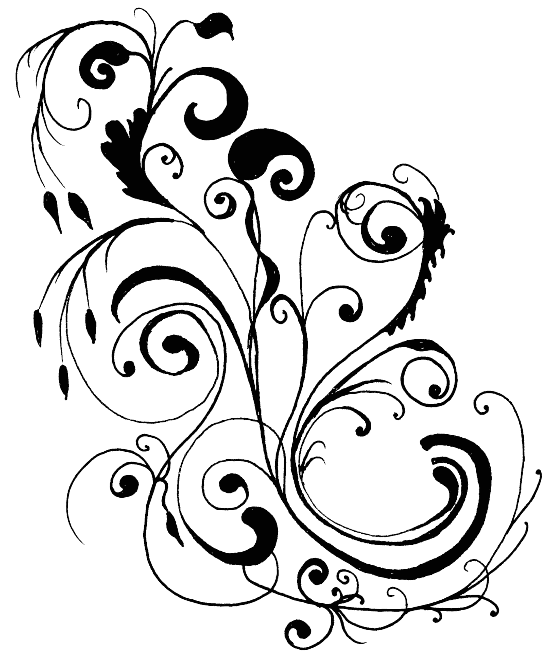 Wedding flower black and white clipart picture library stock clip art wedding borders free | MonkeyDot - Free Educational ... picture library stock
