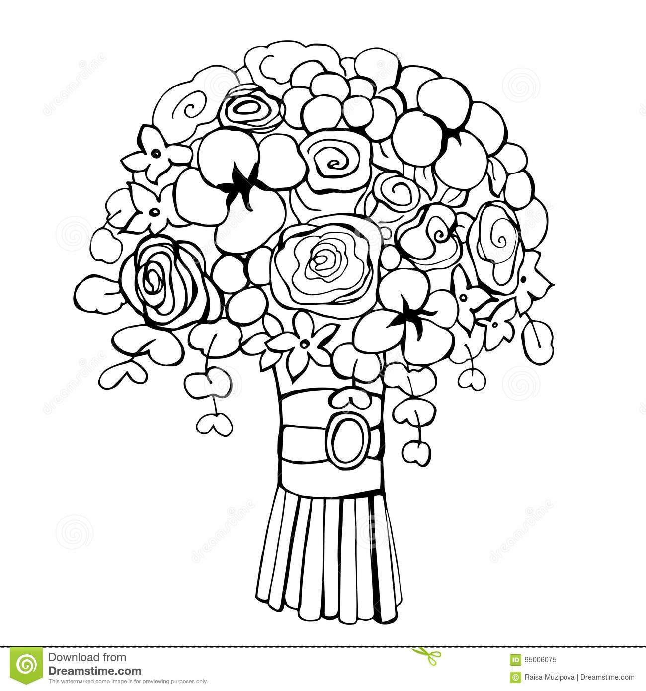 Black and white wedding flower clipart k and r vector download Wedding bouquet clipart black and white 3 » Clipart Portal vector download