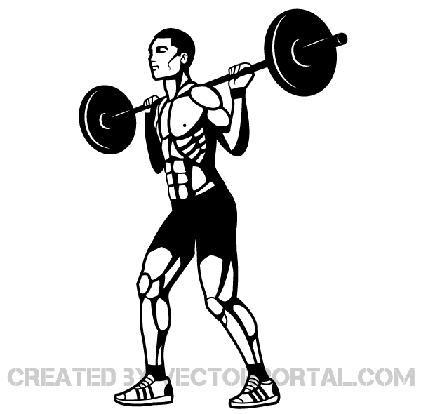 Black and white weightlifter clipart with color background svg freeuse stock Weightlifting Vector Clip Art svg freeuse stock