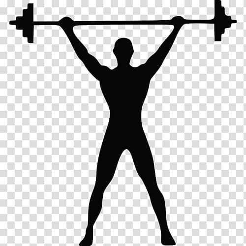 Black and white weightlifter clipart with color background png free library Olympic weightlifting Barbell Weight training Dumbbell, barbell ... png free library