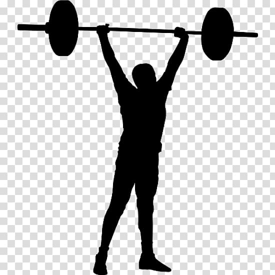 Black and white weightlifter clipart with color background transparent library Olympic weightlifting CrossFit Weight training Sticker Sport ... transparent library