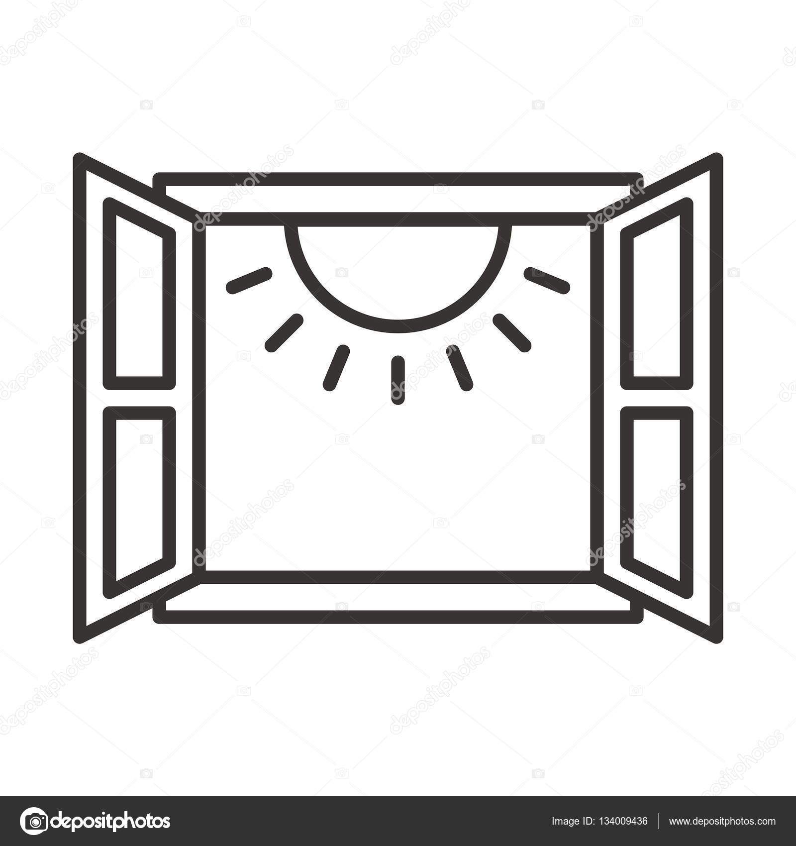 Black and white window clipart clipart royalty free Open window clipart black and white 2 » Clipart Portal clipart royalty free
