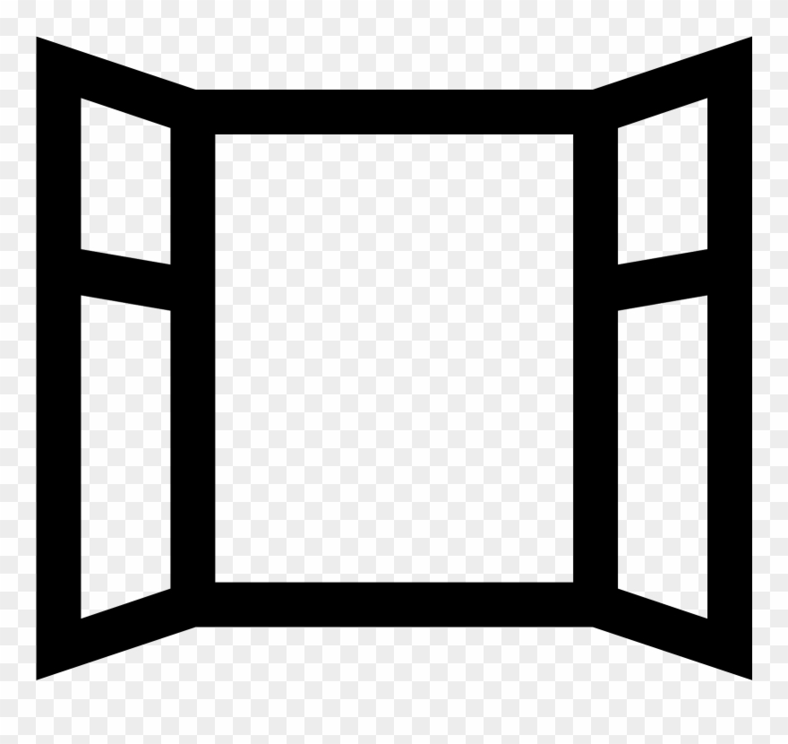 Window clipart black and white jpg free library Open Window Icon - Open Window Clipart Black And White - Png ... jpg free library