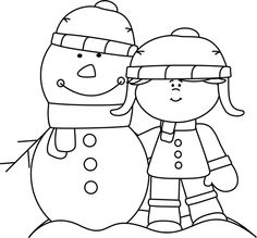 Black and white winter clipart clipart black and white download 150 Best Clip Art-Winter images in 2018 | Christmas images ... clipart black and white download