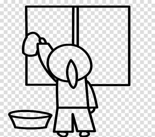 Black and white wipe clipart image freeuse download Child Stroke Glass Girl, Wipe the back of the window transparent ... image freeuse download