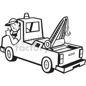 Tow truck clipart black and white clip art black and white stock Tow Truck Pictures | Free download best Tow Truck Pictures on ... clip art black and white stock