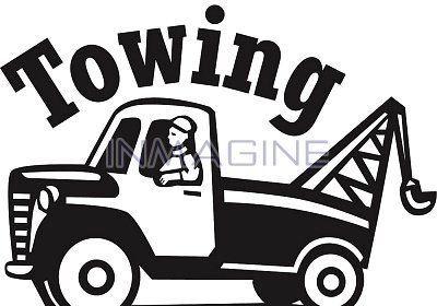 Black and white wrecker clipart vector royalty free stock tow truck clip art | Single Images (izs015) > A tow truck with ... vector royalty free stock
