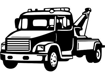 Tow roll back clipart vector
