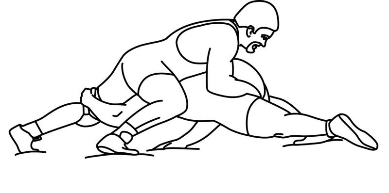 Black and white wrestling clipart clip royalty free Wrestling Clip Art Black White | Clipart Panda - Free Clipart Images clip royalty free