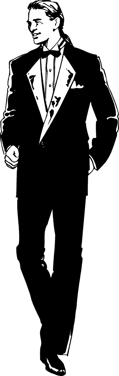 Black and white young man in suit clipart vector freeuse Clipart Young Man - Clip Art Library vector freeuse