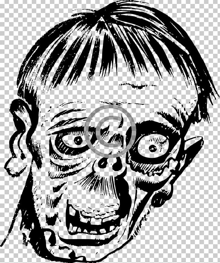 Black and white zombie head clipart picture free Zombie YouTube PNG, Clipart, Art, Black And White, Bone, Download ... picture free