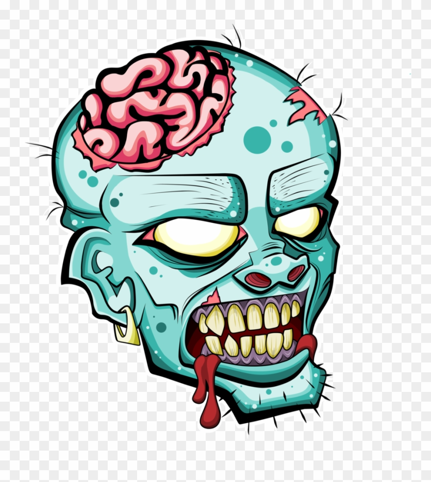 Black and white zombie head clipart vector free stock Png Black And White Download Free Please Credit By - Zombie Head Png ... vector free stock