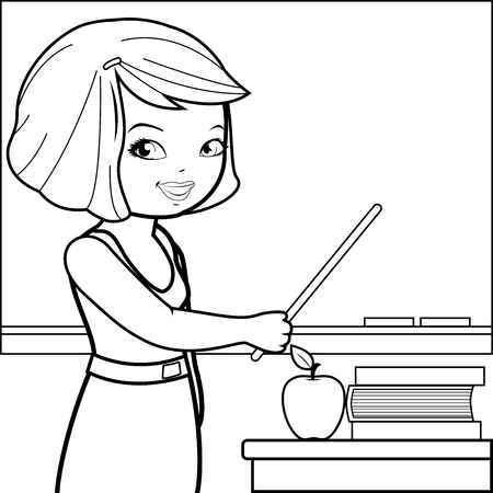Teacher clipart black n white picture royalty free Teacher teaching students clipart black and white 2 » Clipart Portal picture royalty free