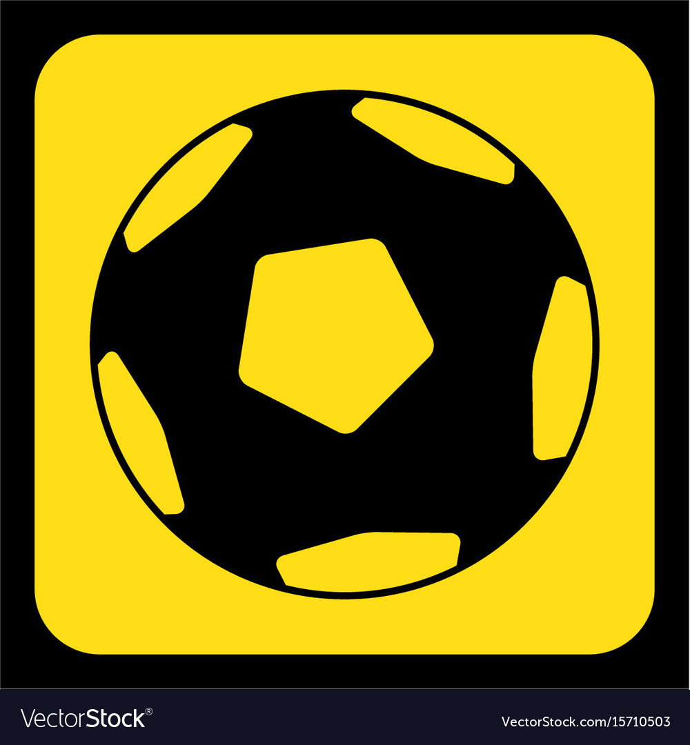 Black and yellow football clipart jpg royalty free download Yellow black sign - football soccer ball icon jpg royalty free download