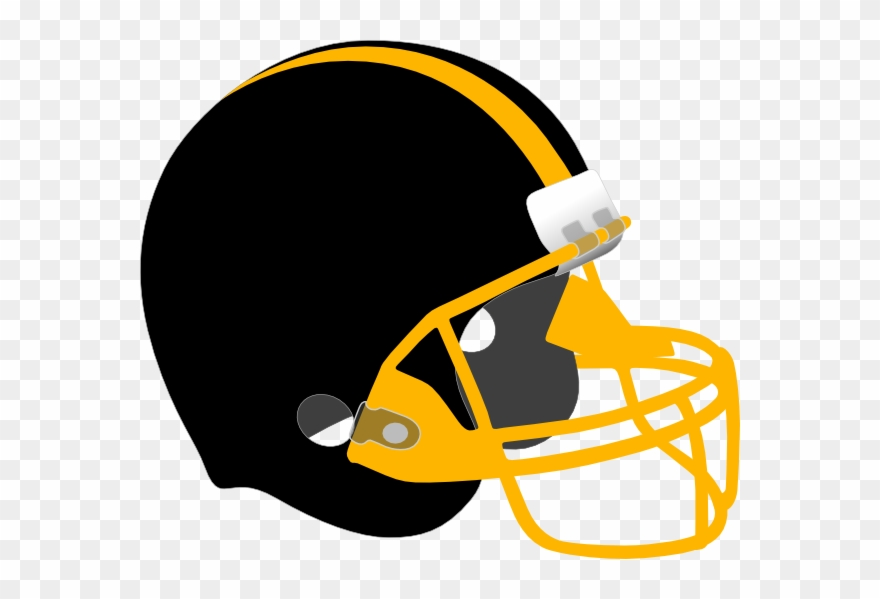 Black and yellow football clipart svg freeuse stock Football Helmet Clipart Craft Projects, Sports Clipart - Black And ... svg freeuse stock