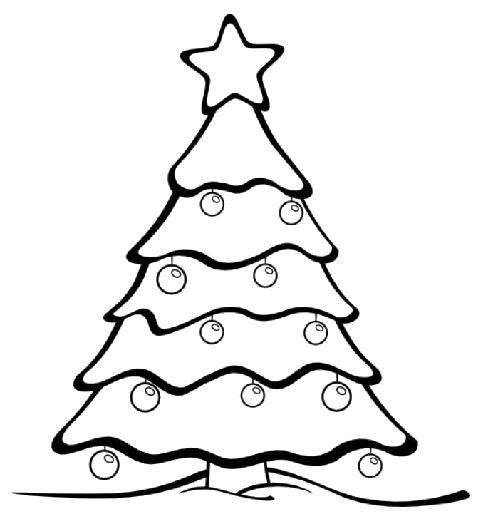 Black and yellow only christmas ornaments clipart png freeuse download Free Christmas Tree Line Drawing, Download Free Clip Art, Free Clip ... png freeuse download