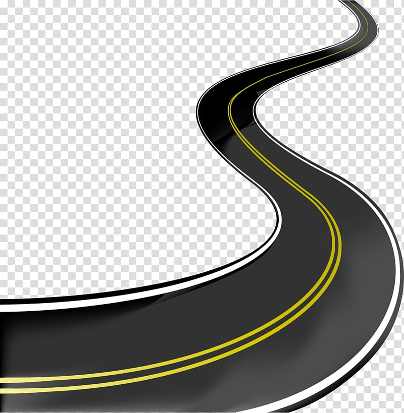 Black and yellow roadways clipart picture freeuse library Curve road, Road Illustration, road transparent background PNG ... picture freeuse library