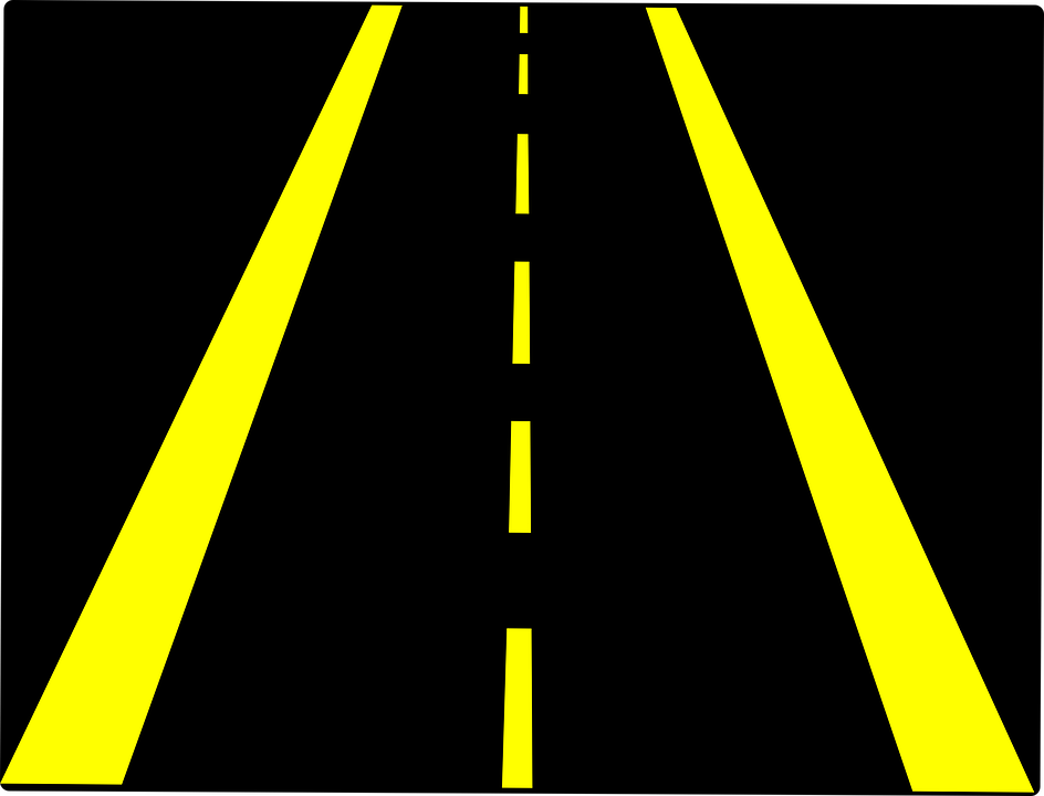 Black and yellow roadways clipart freeuse library Horizontal Road Clipart   Free download best Horizontal Road Clipart ... freeuse library
