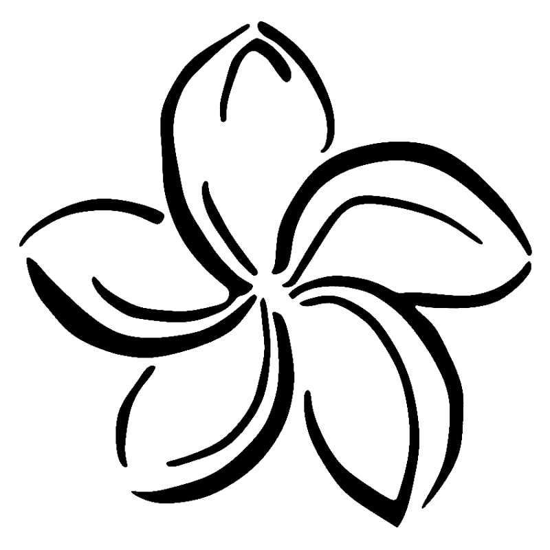 Black anf white plumeria clipart free library 15cm*14.9cm Plumeria Flower Personality Stickers Decals Vinyl Car ... free library