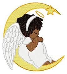 Black angel clipart clip black and white african american angel clipart - Google Search | Angels watching ... clip black and white