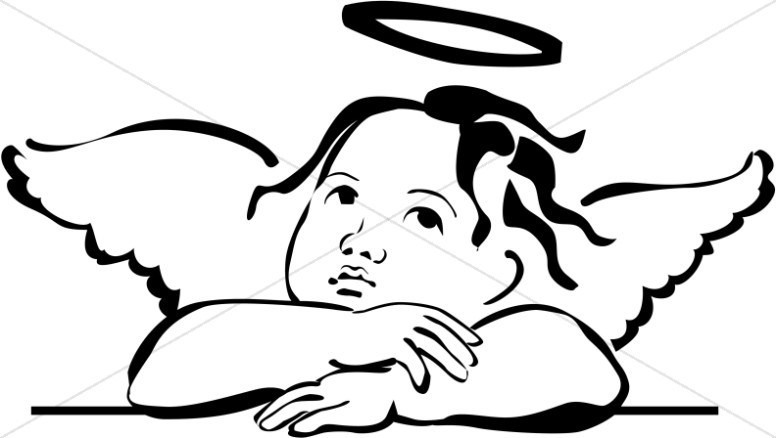 Black angel clipart image black and white Black angel clipart 5 » Clipart Portal image black and white