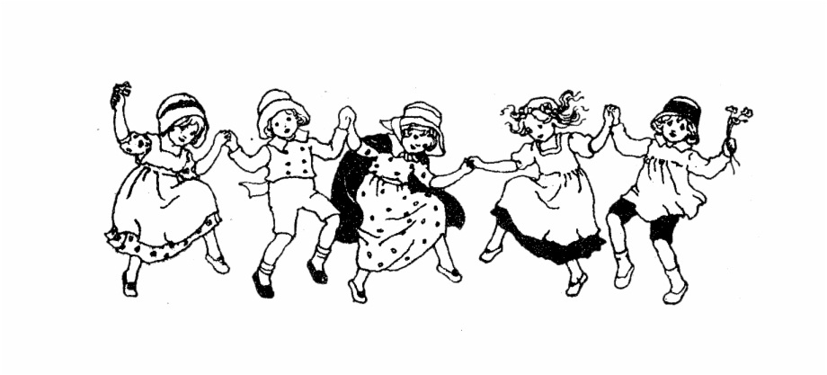 Black asian white kids clipart free library Kids Singing Png Black And White - Children Dancing Clipart Black ... free library