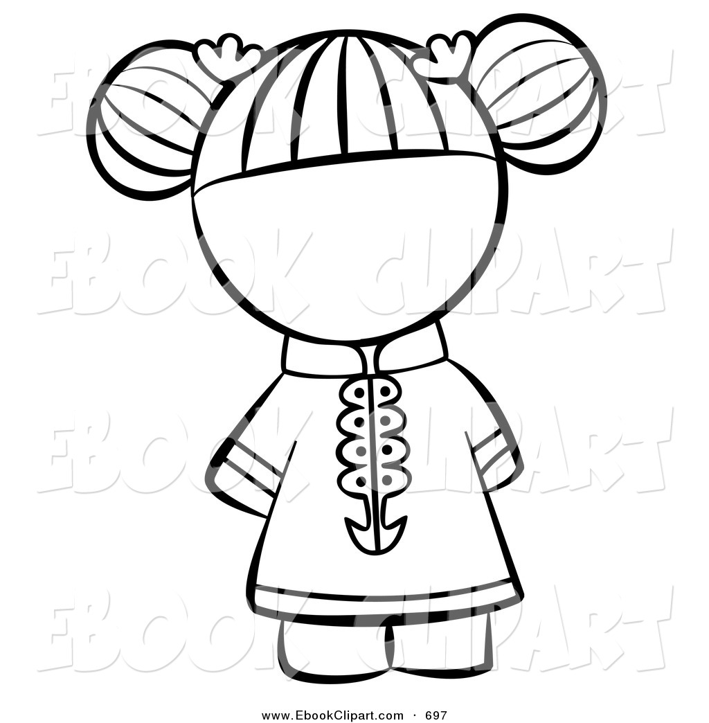 Black asian white kids clipart jpg transparent library Baby Girl Clipart Black And White | Free download best Baby Girl ... jpg transparent library