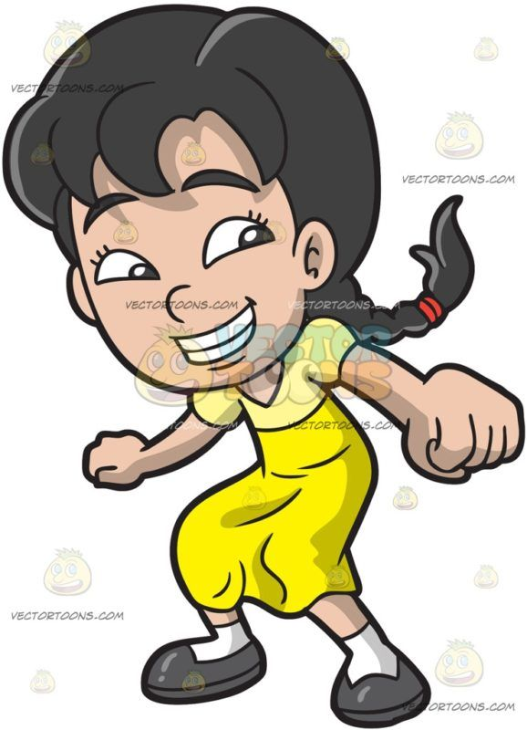 Black asian white kids clipart graphic free stock An Asian Girl Dancing To Whip Nae Nae: A girl with black hair in ... graphic free stock