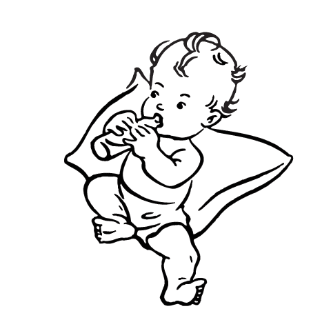 Black baby playing with white baby clipart vector transparent stock Best Baby Clipart Black and White #28185 - Clipartion.com vector transparent stock