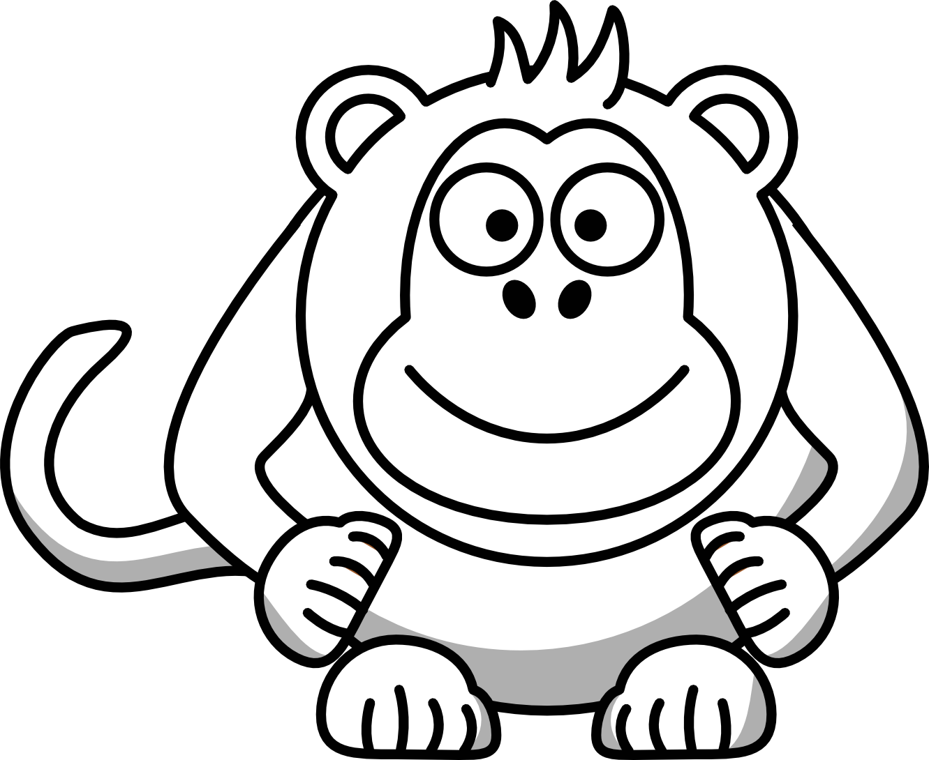 Black baby with crown clipart freeuse Gorilla Clipart Black And White | Free download best Gorilla Clipart ... freeuse