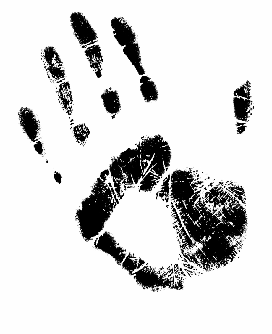 Black background and white hand print clipart jpg black and white stock Free Download - Hand Print Images Transparent Background Free PNG ... jpg black and white stock