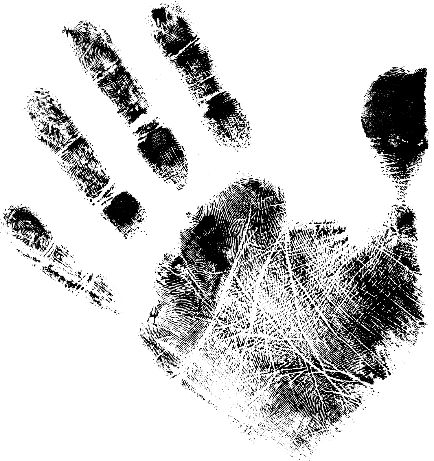 Black background and white hand print clipart picture library library 5 Black Handprints (PNG Transparent) | OnlyGFX.com picture library library