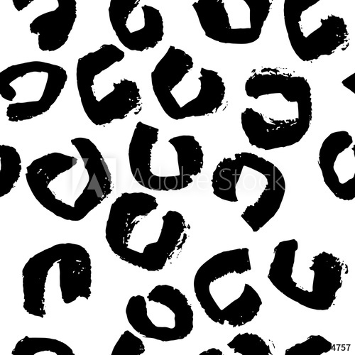 Black background and white hand print clipart picture royalty free Vector illustration leopard print seamless pattern. Black and white ... picture royalty free