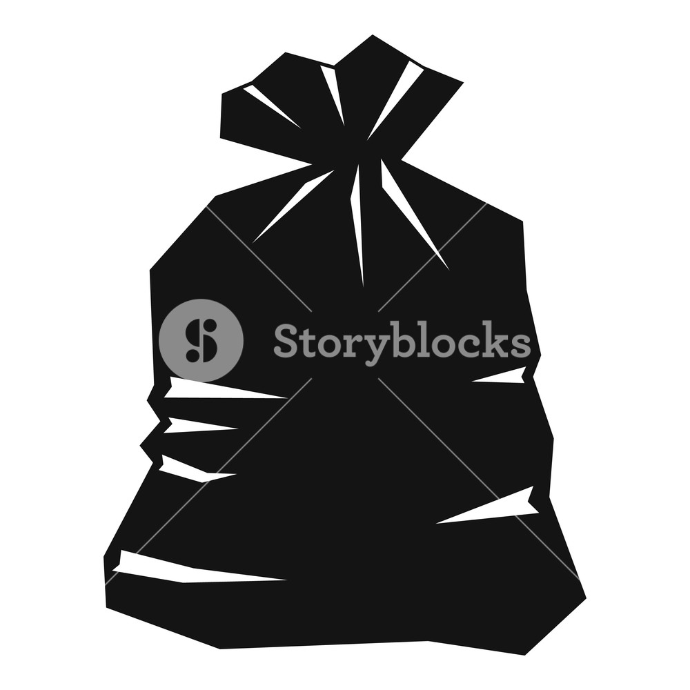 Black bags of garbage clipart clip transparent download Garbage bag icon. Simple illustration of garbage bag icon for web ... clip transparent download