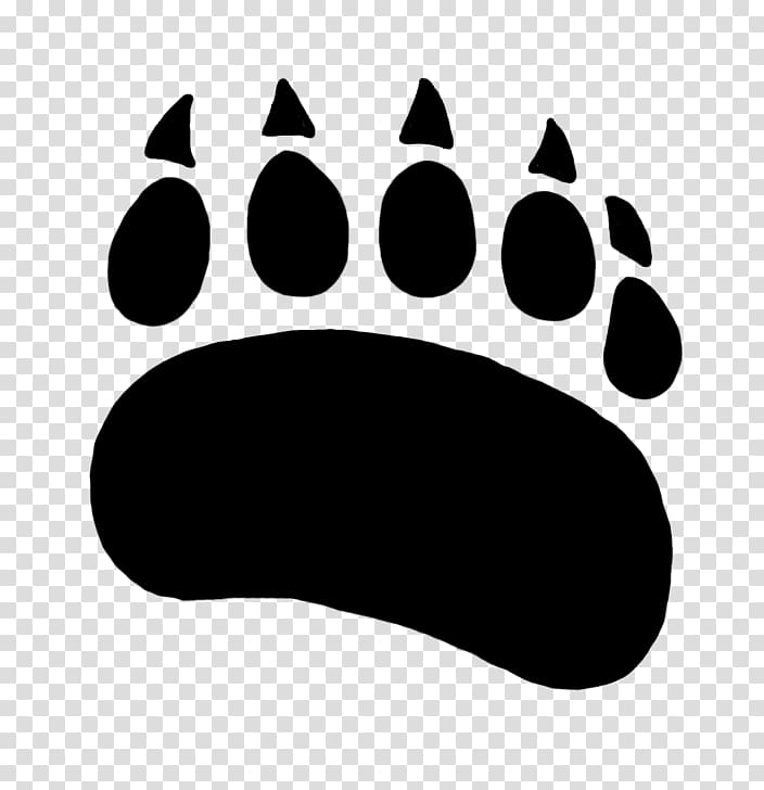 Black bear paw print clipart picture library Polar bear American black bear Paw , cartoon bear printing ... picture library