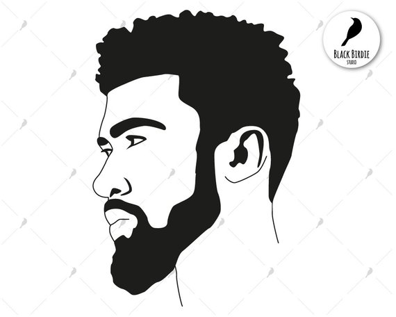 Black men silhoutte clipart image library Black man svg, black man clipart, black boy clipart, black boy beard ... image library