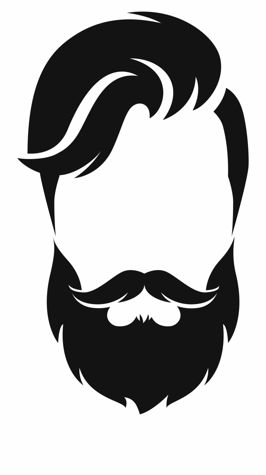 Black beard clipart graphic freeuse stock Beard Silhouette Png - Beard Png Clipart, Transparent Png Download ... graphic freeuse stock