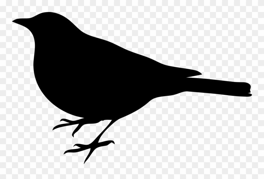 Black bird images clipart jpg royalty free stock Profile Of A Black Bird Clip Art Clipart Png - Bird Silhouette Clip ... jpg royalty free stock