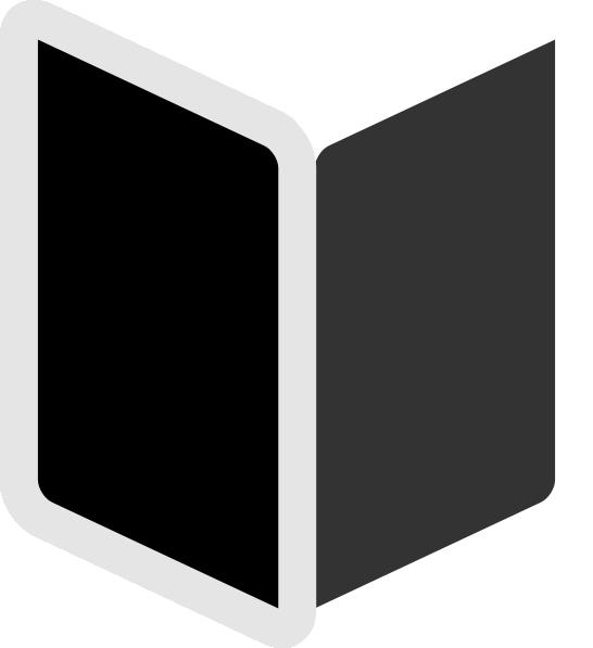 Book clipart black transparent stock Black Book Clip Art at Clker.com - vector clip art online, royalty ... transparent stock