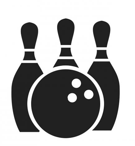 Black bowler clipart black and white stock Bowling Clipart black and white stock